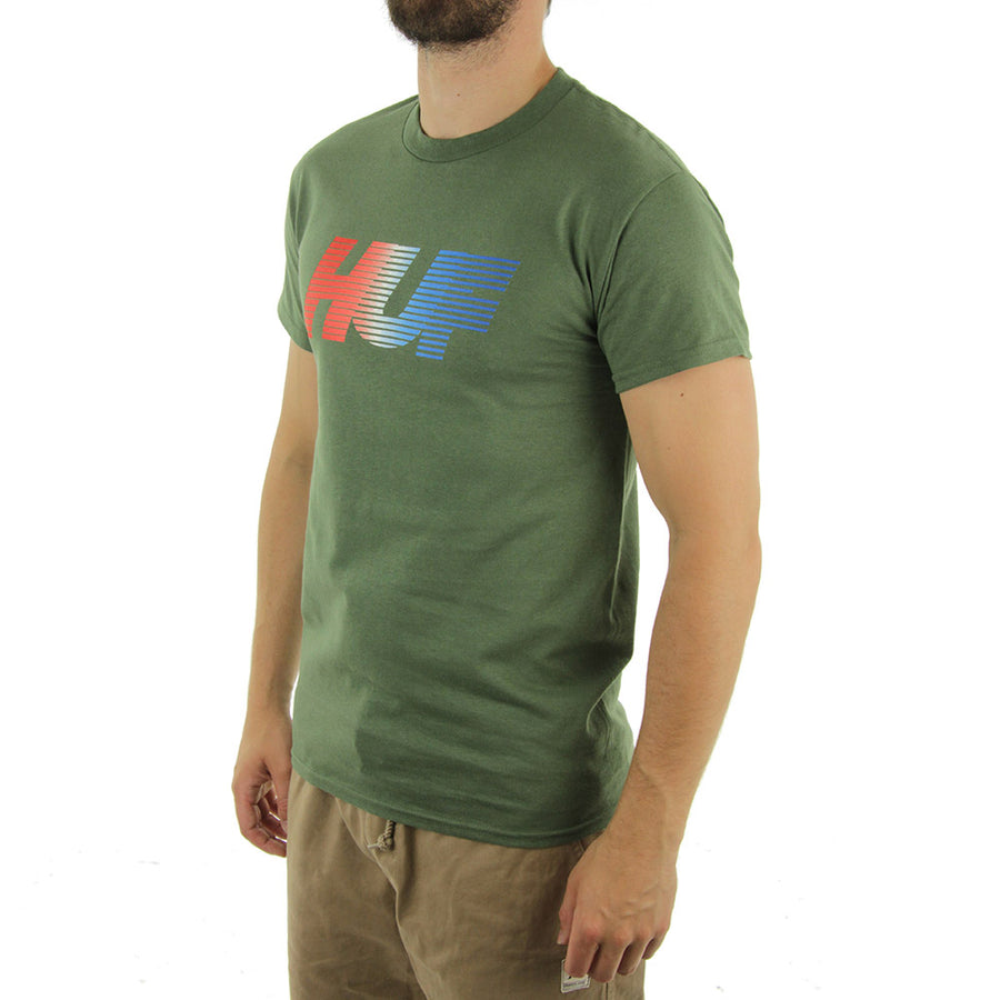 10k Gradient Tee/Army Green
