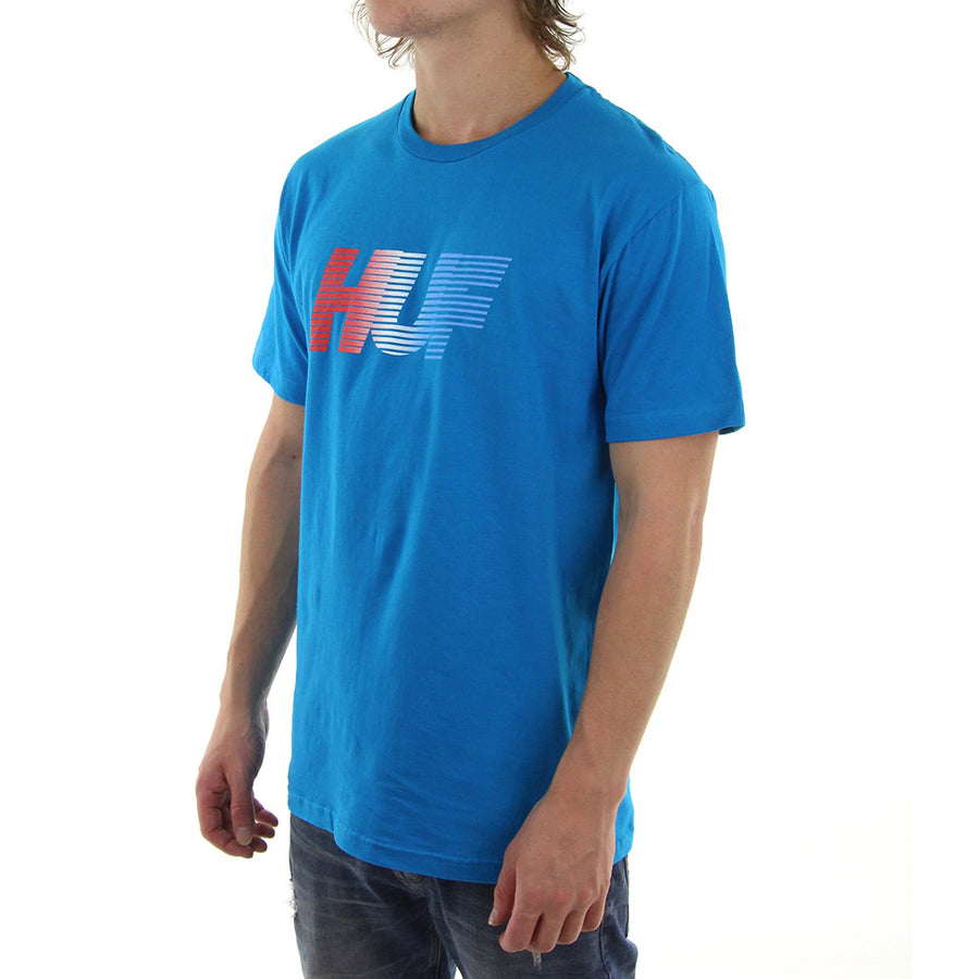 10K Gradient Tee/Bright Blue