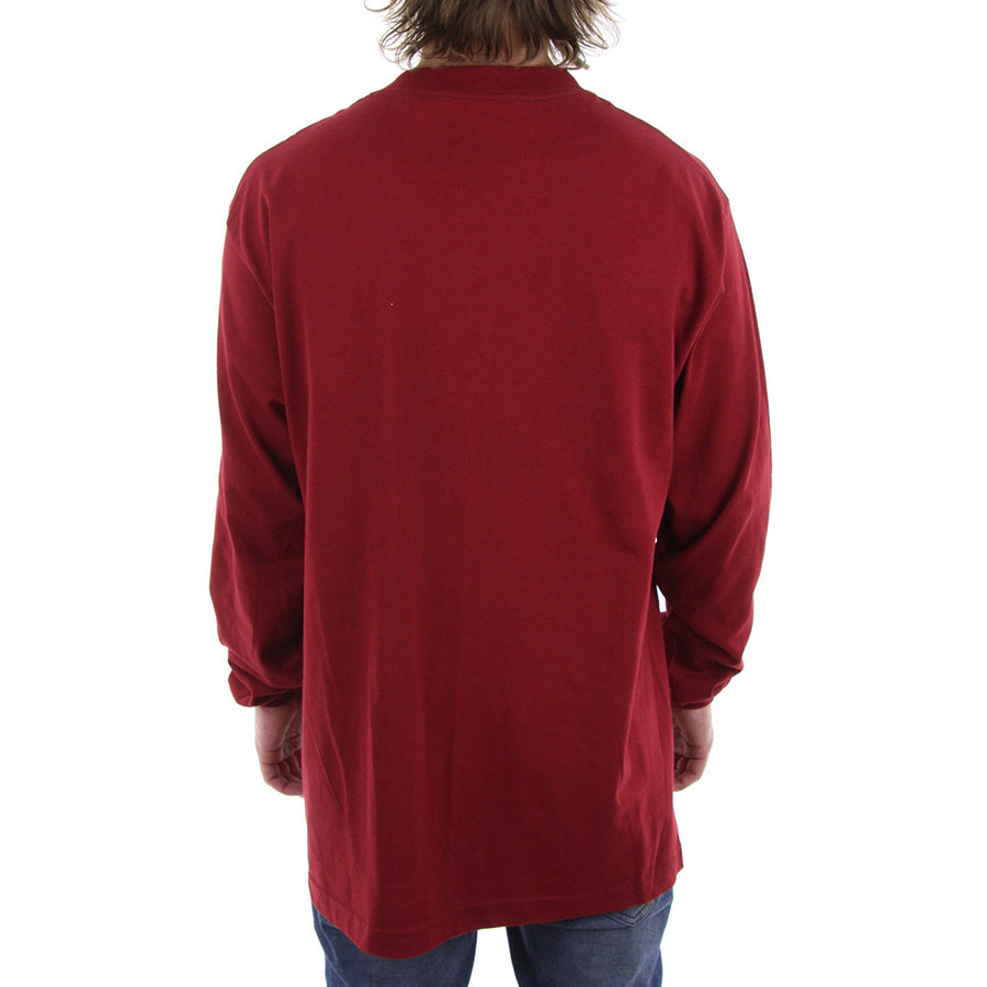 HUF X Box Logo Long Sleeve Tee/Burgundy