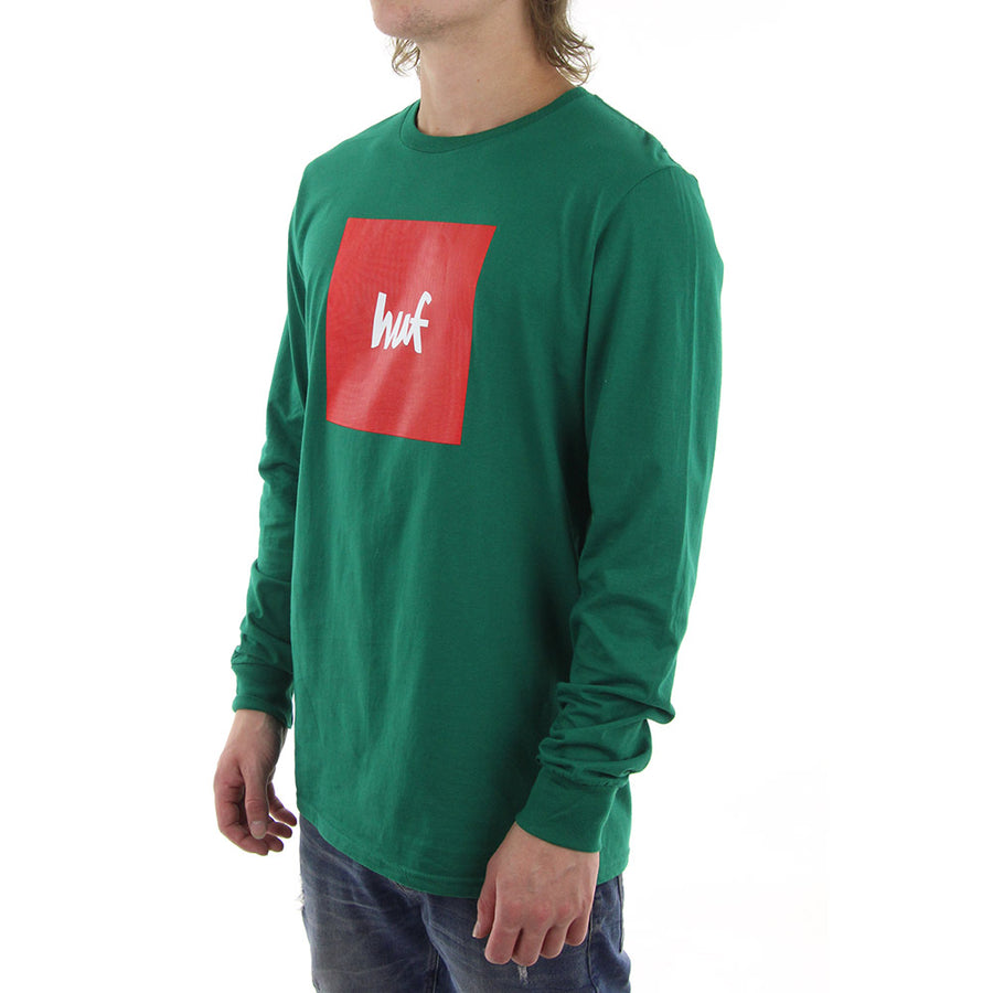 HUF X Box Logo Long Sleeve Tee/Green