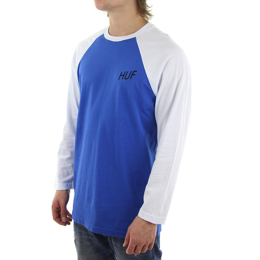We Make Our Own Luck Raglan Tee/Blue/White