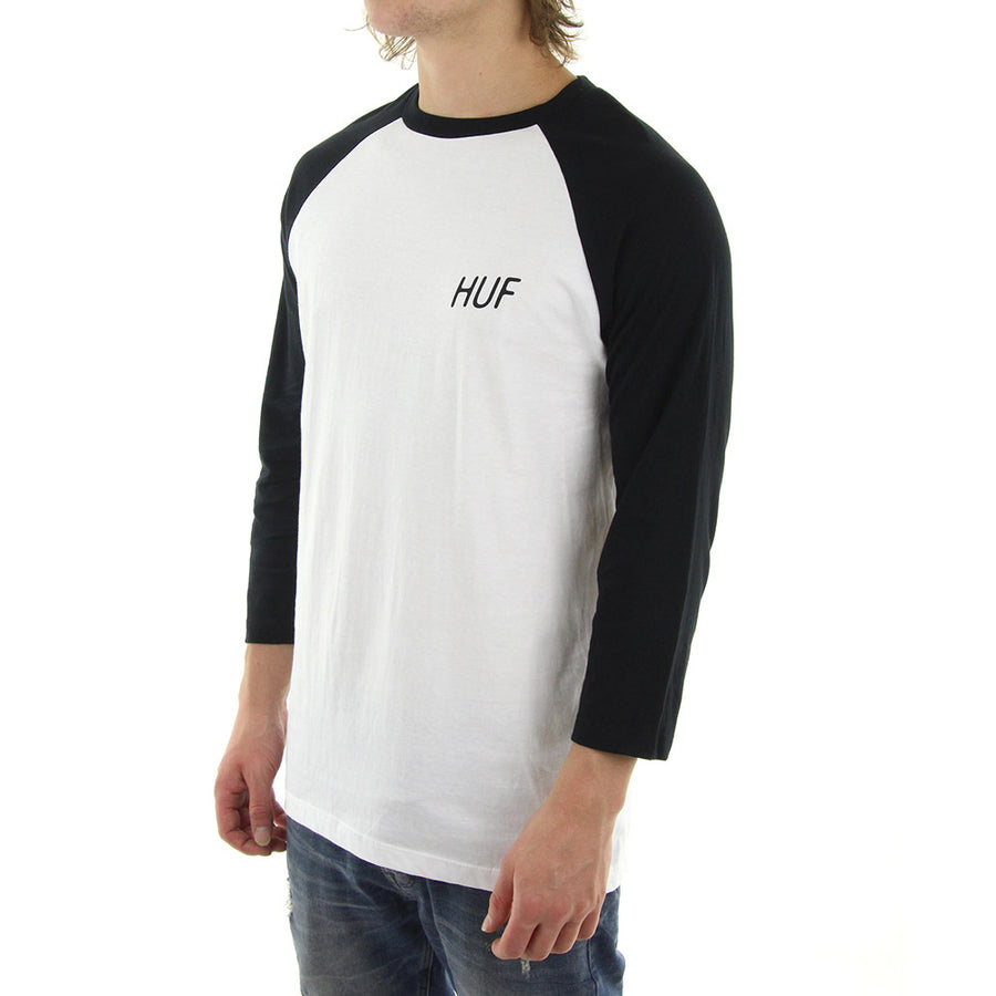 We Make Our Own Luck Raglan Tee/Black/White