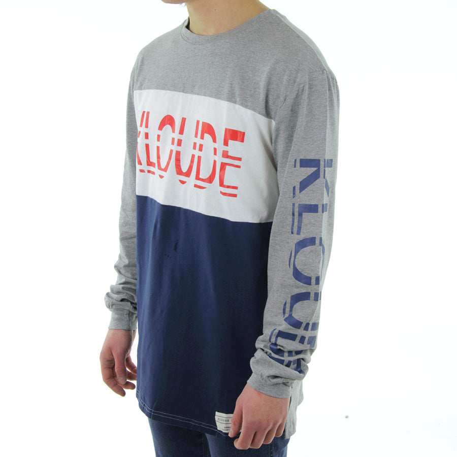 Xavier Long Sleeve Tee/Red/White/Navy