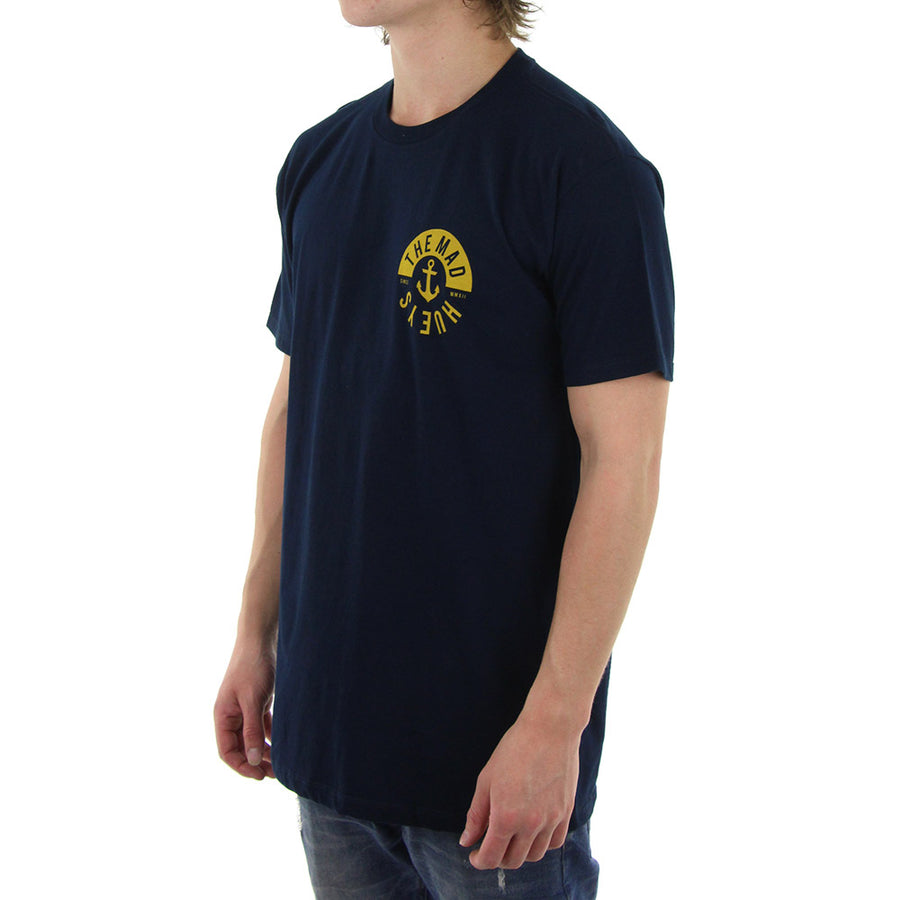 Gold Anchor Tee/Navy