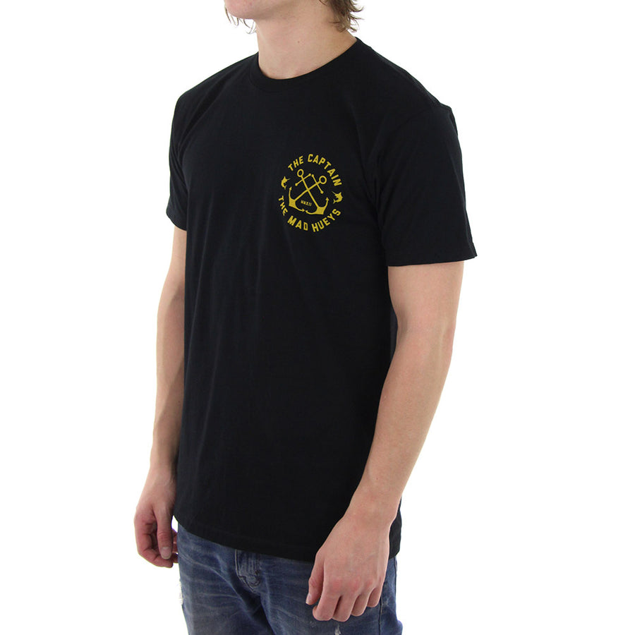Captain Crest Tee/Black