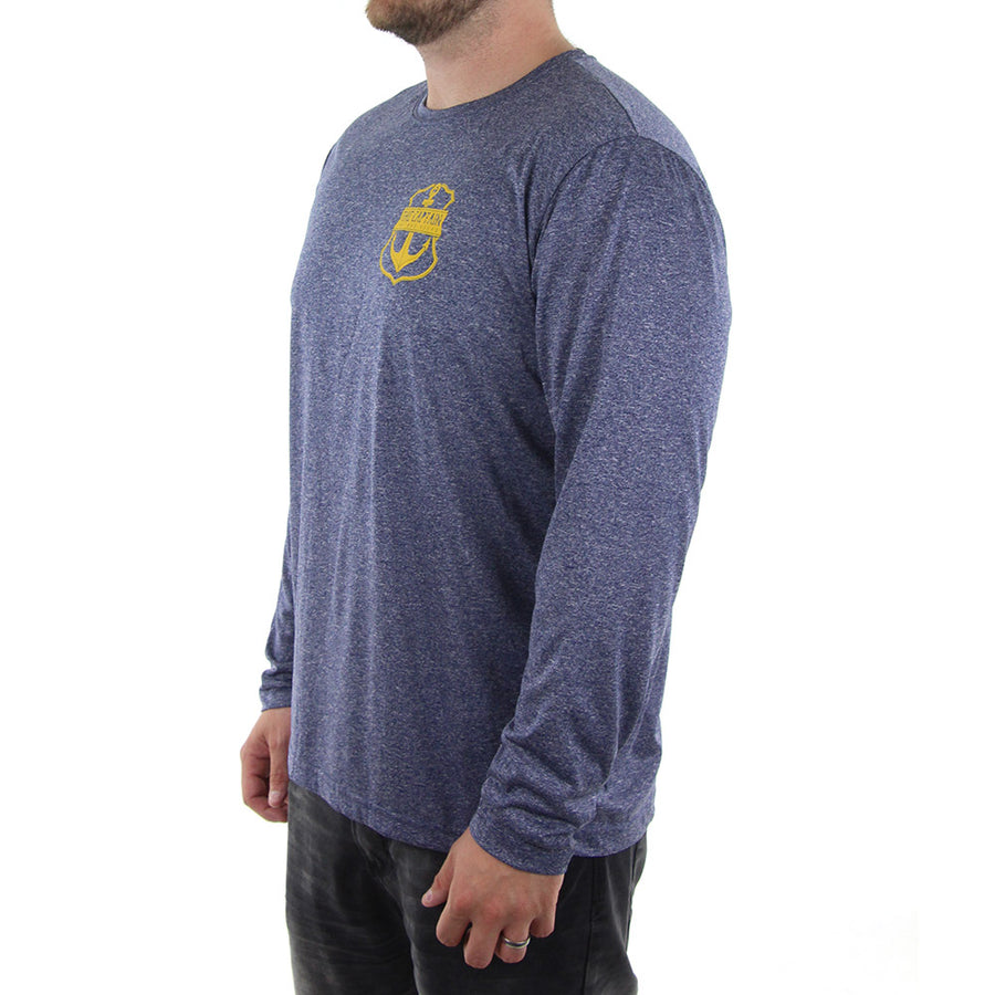 Captain Long Sleeve Tee/Navy Heather
