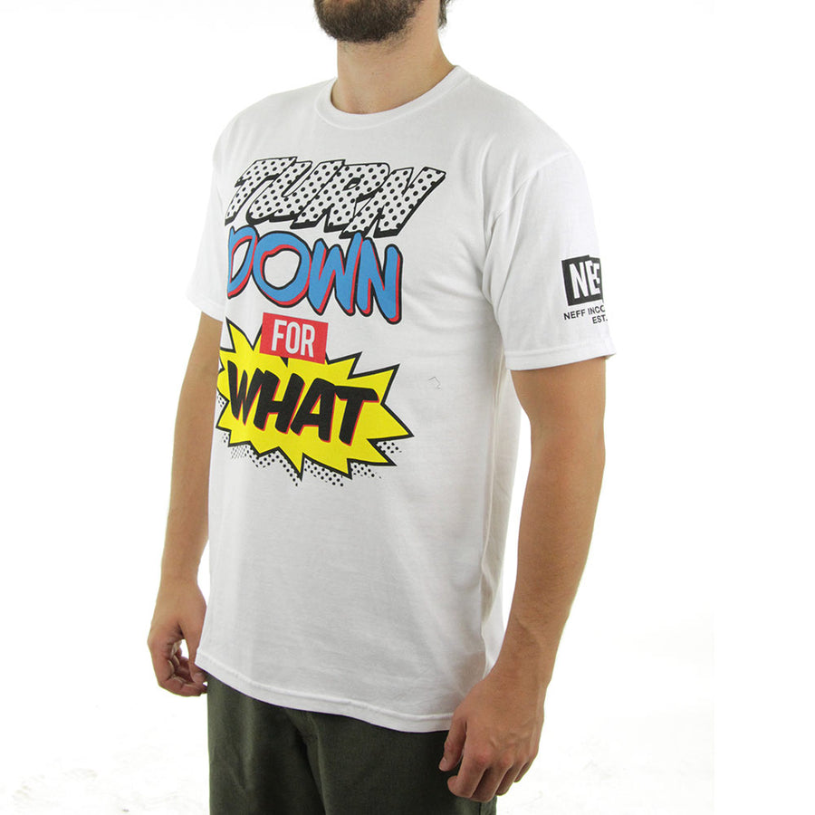 Turn Down For What Tee/White
