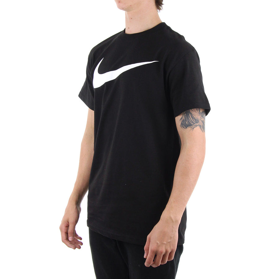 White Swoosh Tee/Black/White