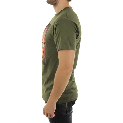 Black Gold Tee/Military Olive