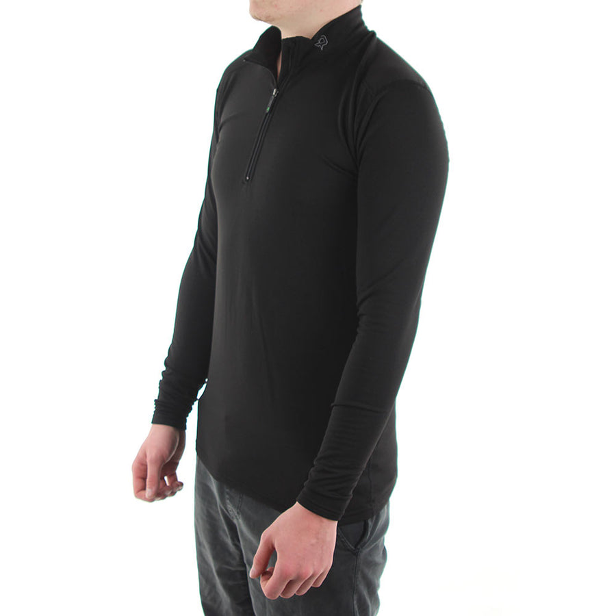 COMP4 Zip Mock Turtle Neck - Black