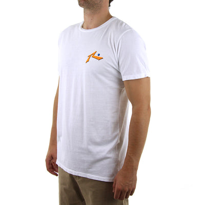 Water Proof Tee/White/Orange