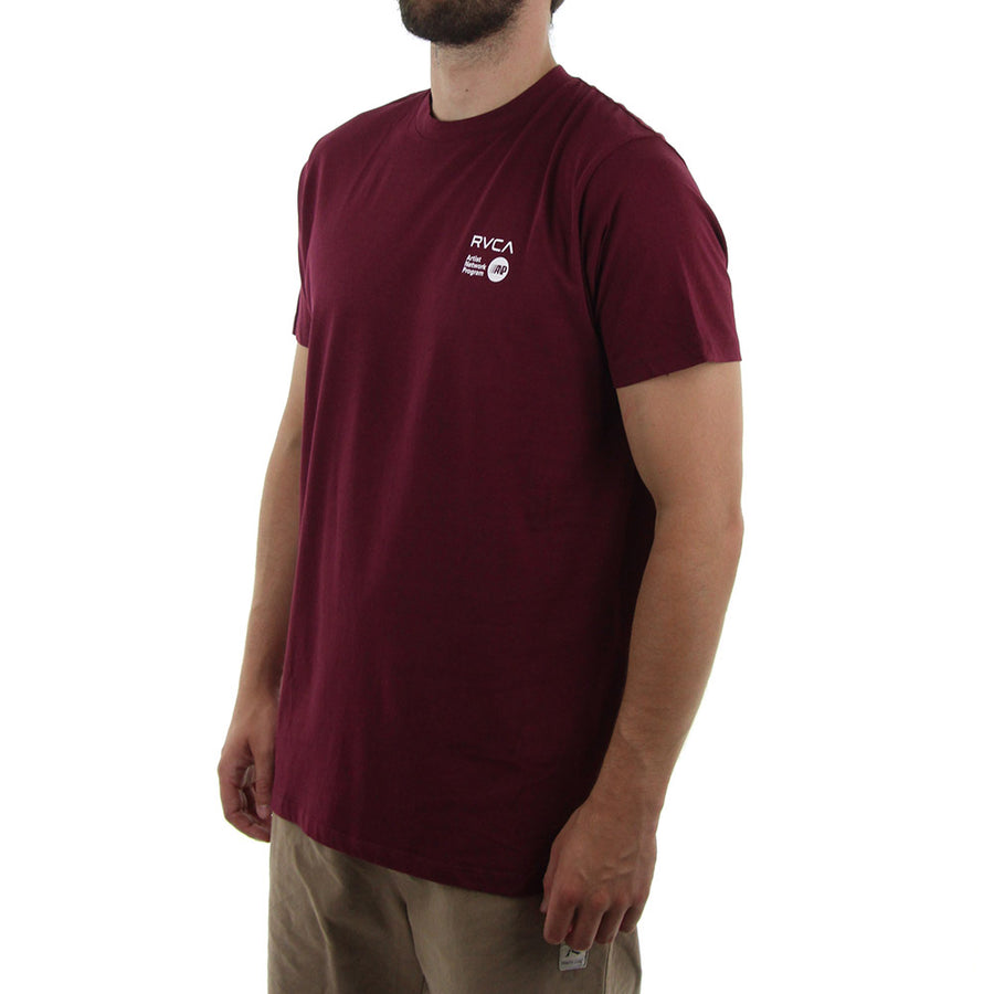 ANP Chest Logo Tee/Burgundy