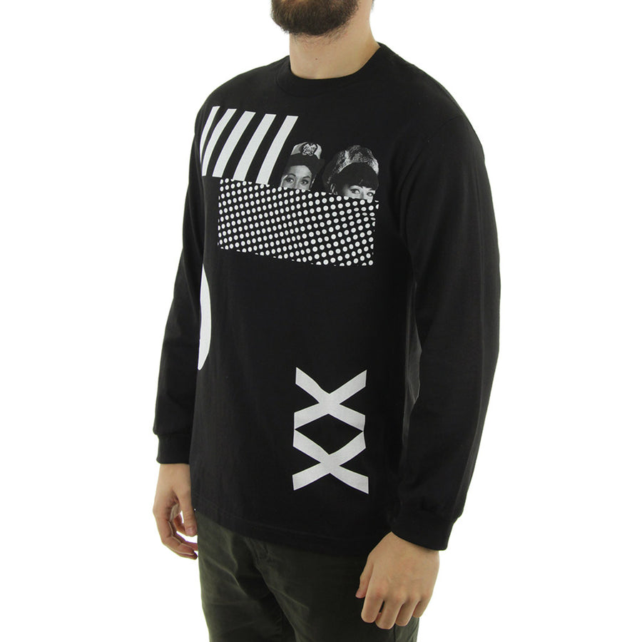 X and O Long Sleeve Tee/Black
