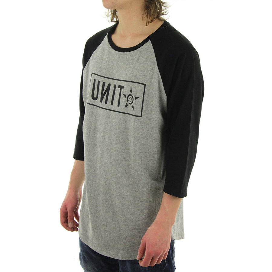 Keyline Pop Raglan Tee/Grey Marle