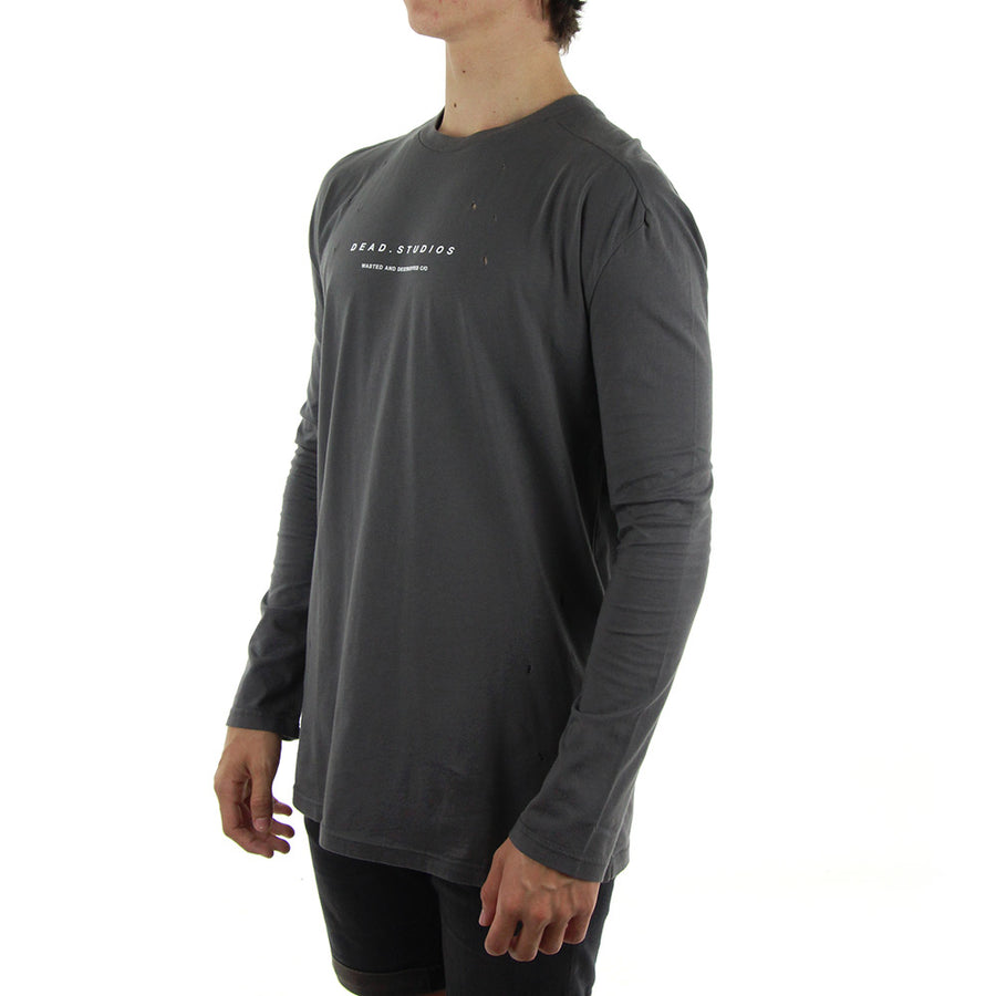 Moth Longsleeve Long Sleeve Tee/Grey
