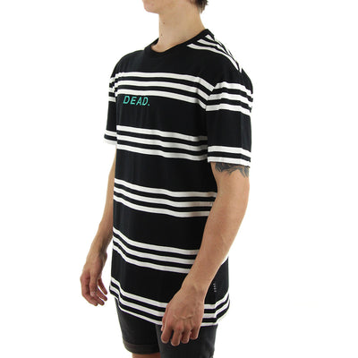 Berlin Stripe Tee/Black/white