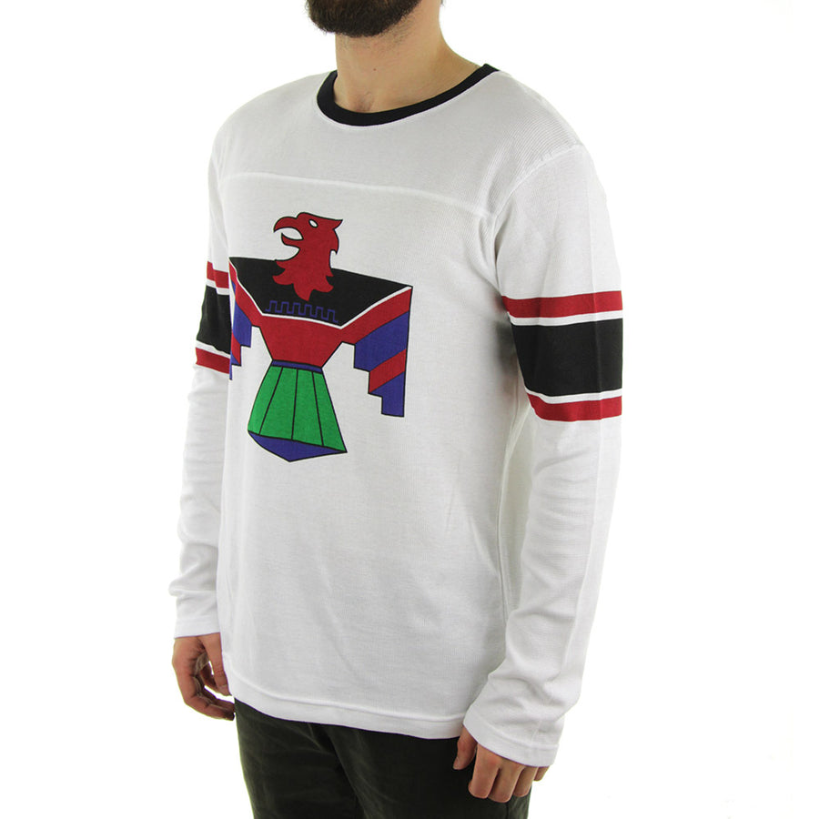 Royalty Long Sleeve Tee/White/Black/Red