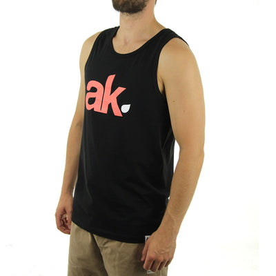 AK Leaf Logo Tank/Black/Peach/White
