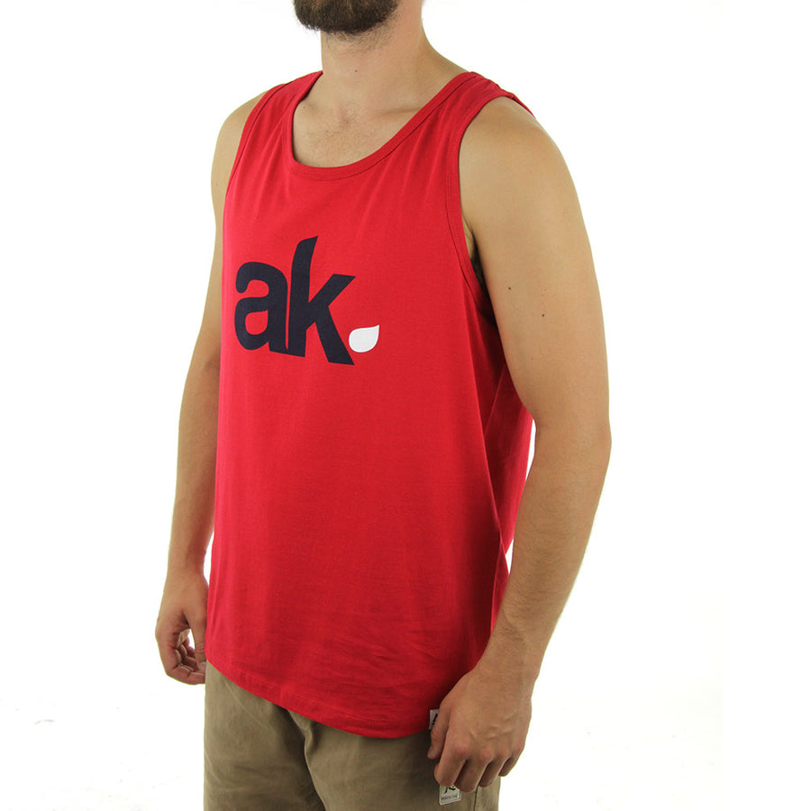 AK Leaf Logo Tank/Red/Navy/White