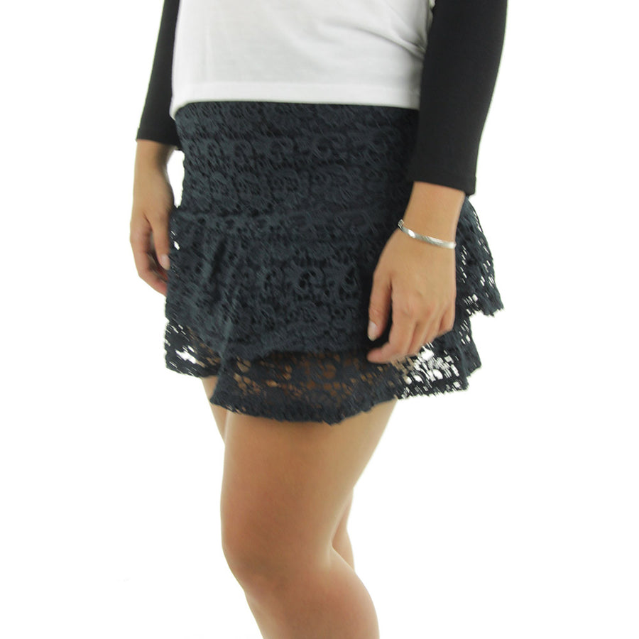 Kiss Lace Skirt/Navy