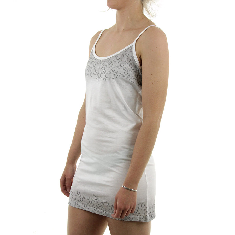 Spag Strap Dress/White