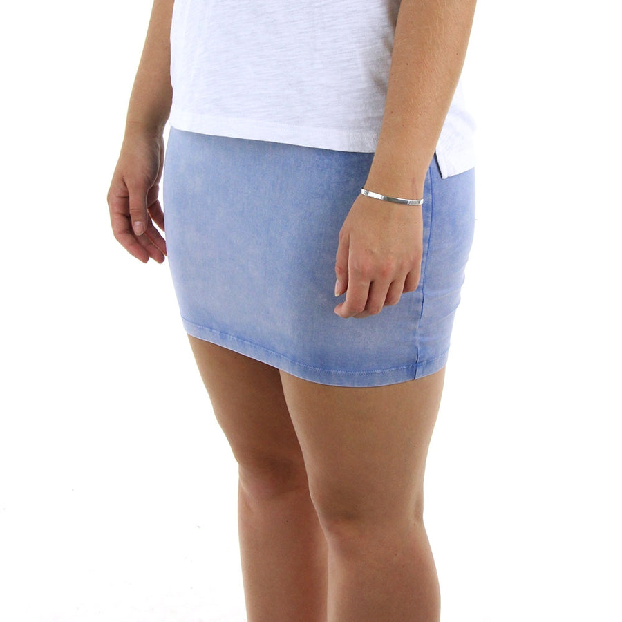 Dream Away Skirt/Chambray