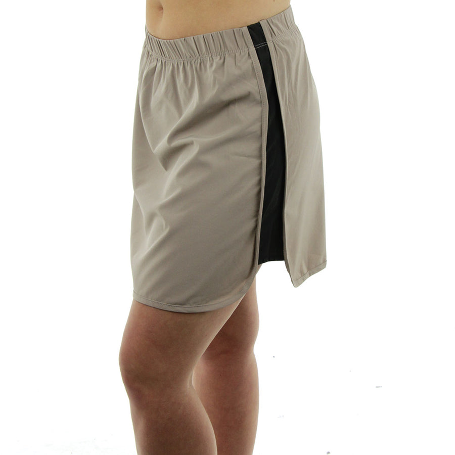 Side Panel Skirt/Taupe