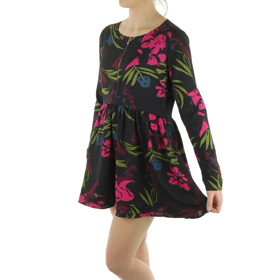 Wonderlost Dress/Floresque Black