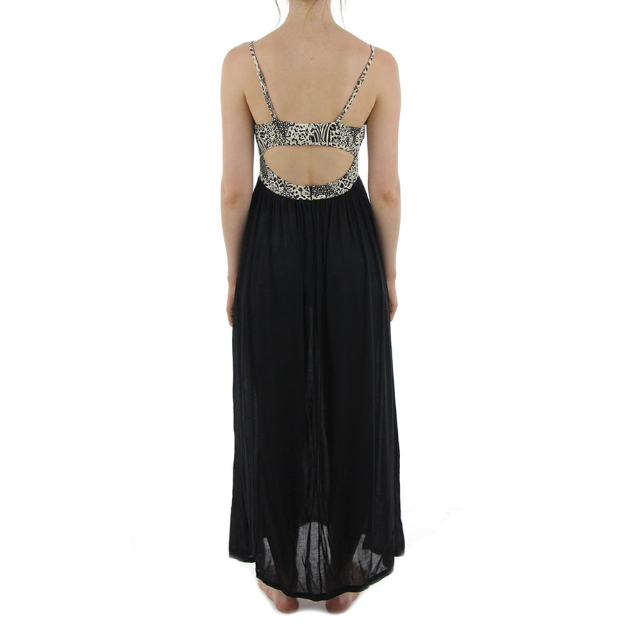 January Maxi Dress/Black/Sand