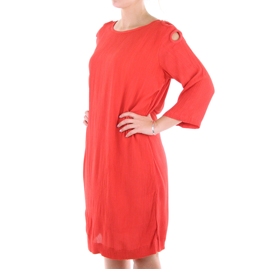 Keyhole Dress/Red