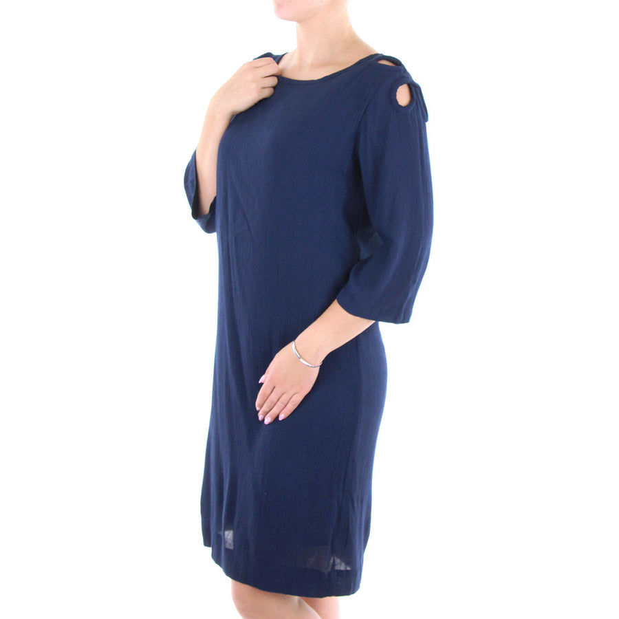 Keyhole Dress/Navy
