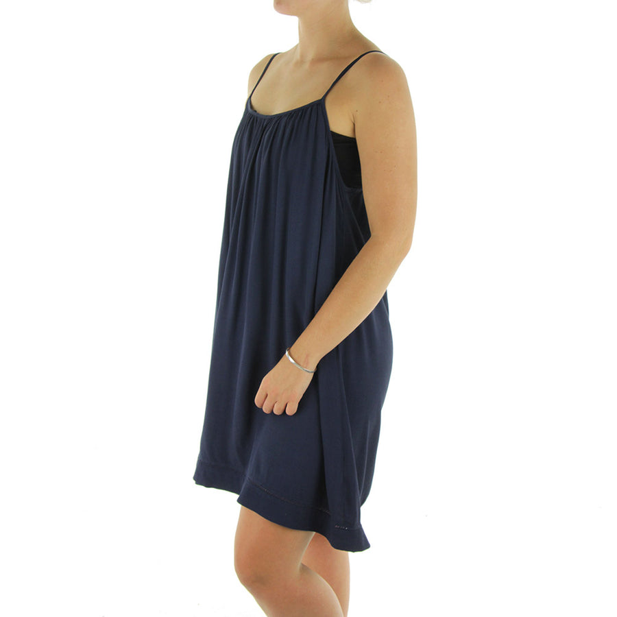 Messenger Dress/Navy Blue