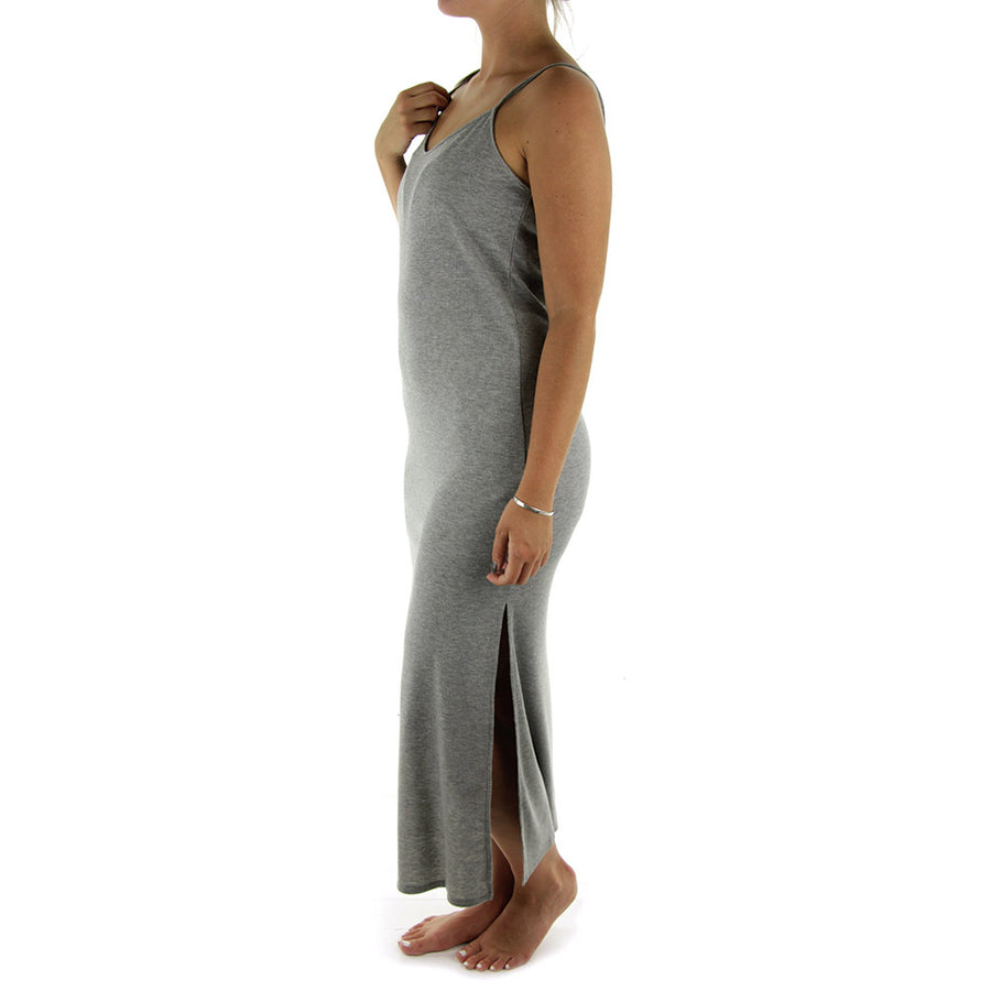 Blank Rib Midi Dress/Grey Marle