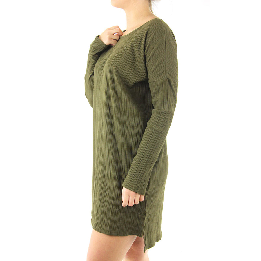 Sky Long Sleeve Dress/Darkm Olive