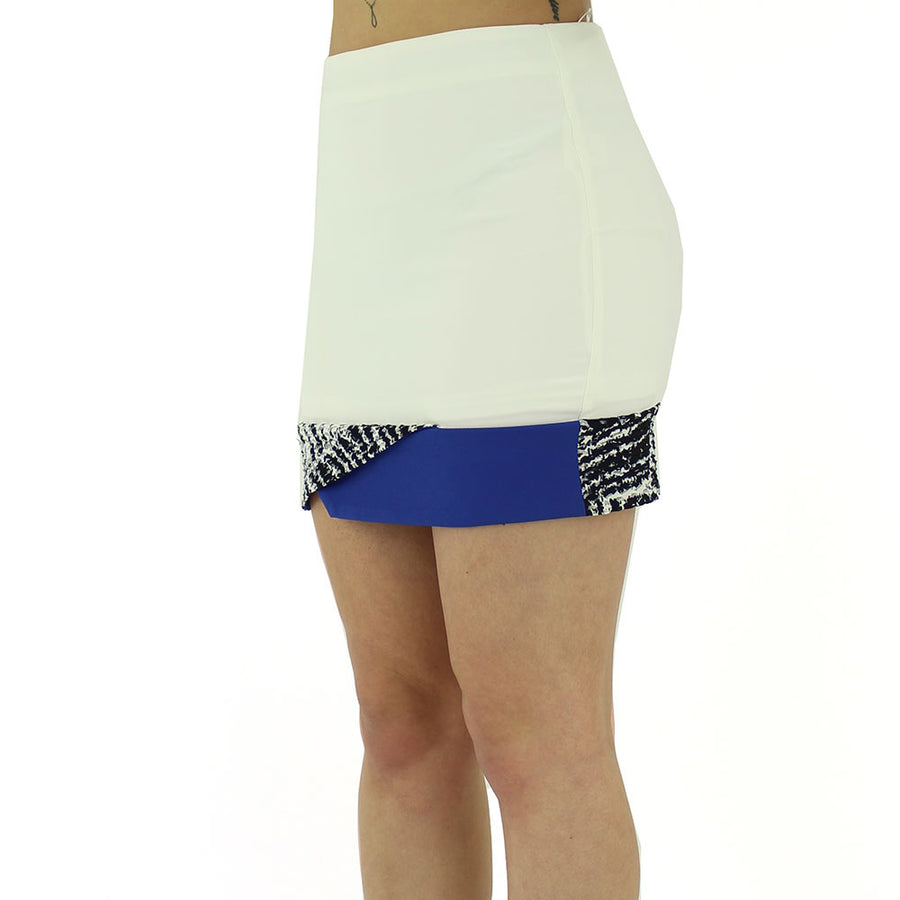 Mini Skirt/Off White/Blue/Black