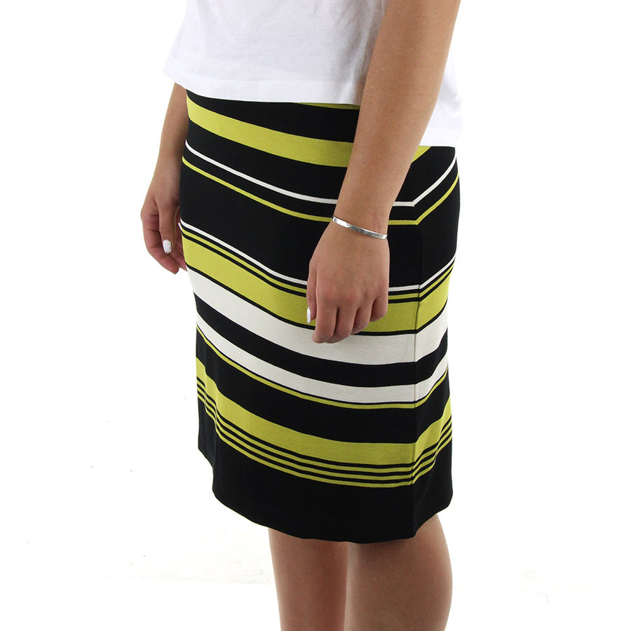 Jus Striped Skirt/Black
