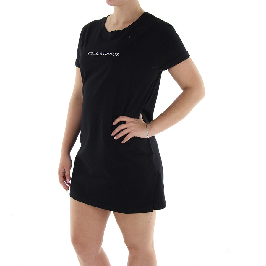 Omega Tee Dress/Washed Black