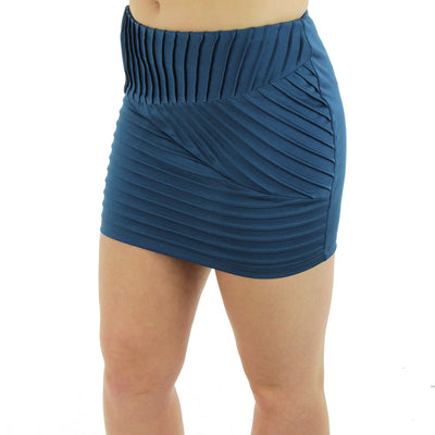 Bandage Mini Skirt/Teal
