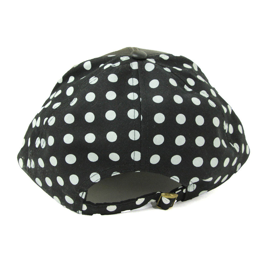 Polka Women's Cap/Black/White