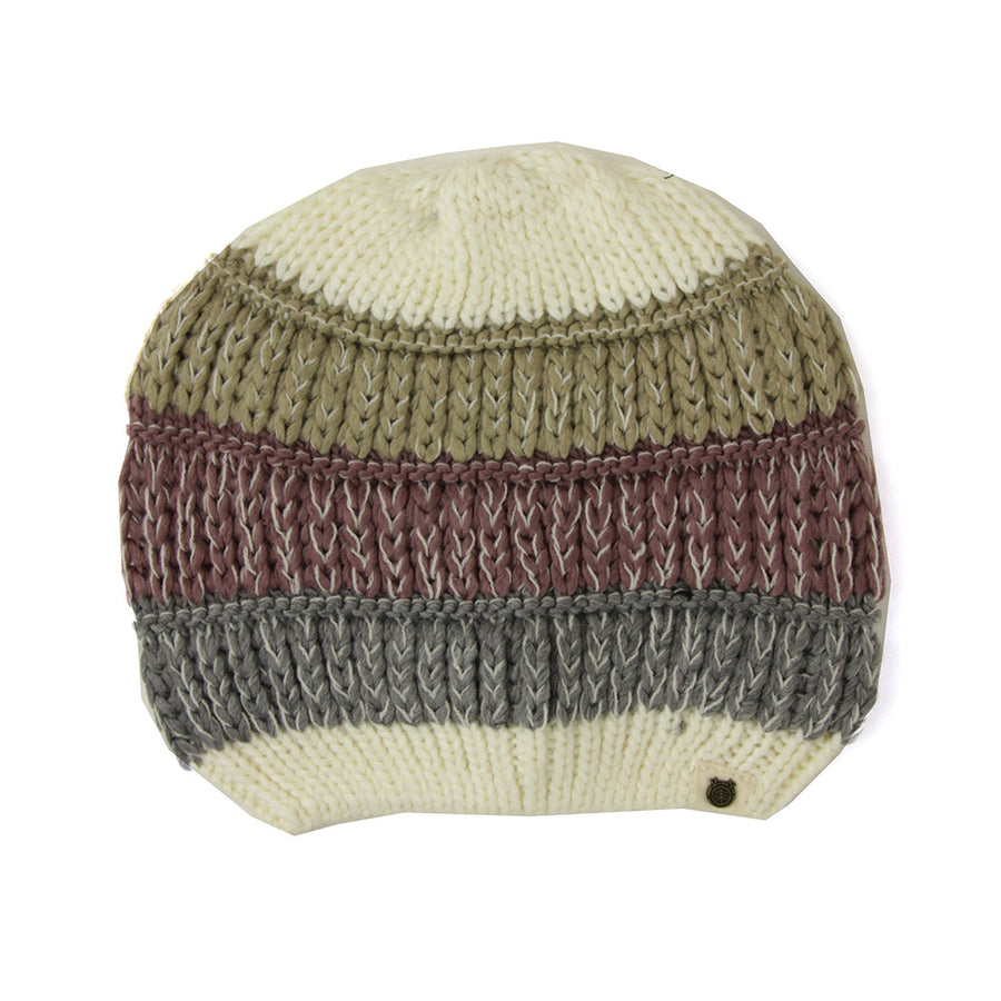 Block Striped Women's Beanie/Natural