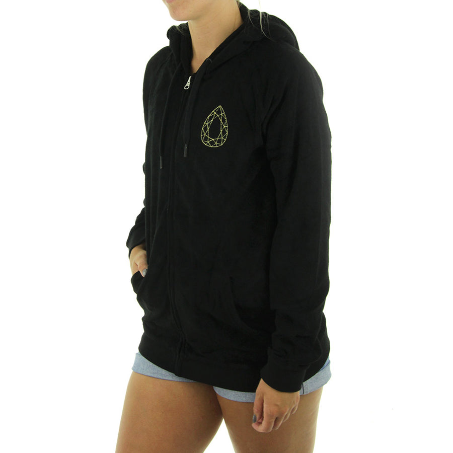 Tear Drop Women's Hoodie/Black