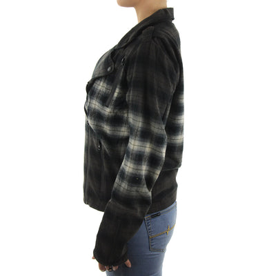 Catskill Moto Plaid Women's Jacket/Dark Grey/Black/Cream