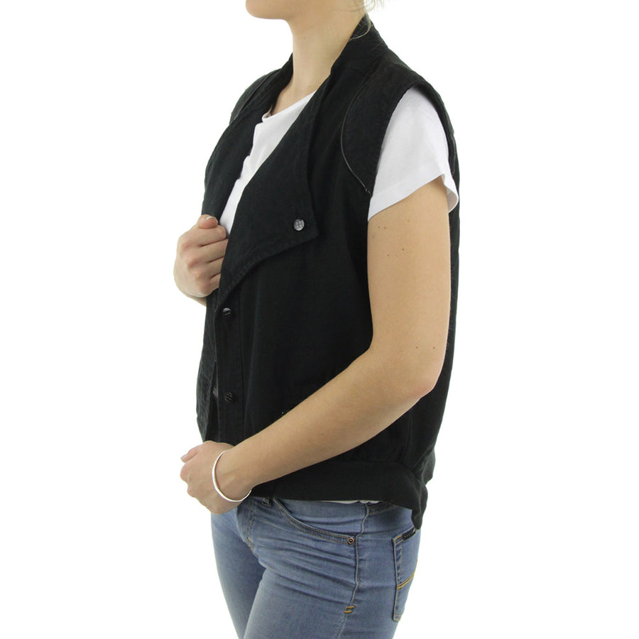 Averted Solid Vest Women's Jacket/Floyd Black