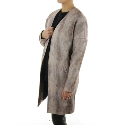 Special Photoprinted Long Coat Women's Jacket/Combo F