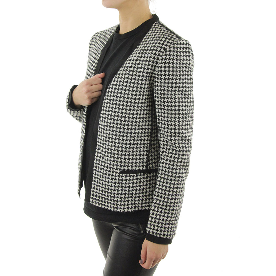 Houndstooth Women's Jacket/Black/White