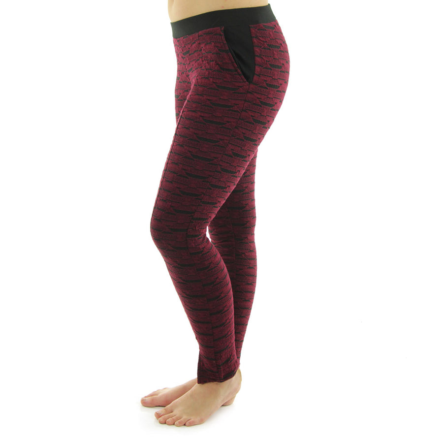 Juliet Women's Pants/Black/Oxblood
