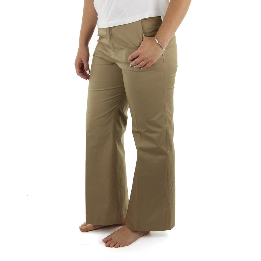 Ivory Twill Women's Chinos/Walnut Brown