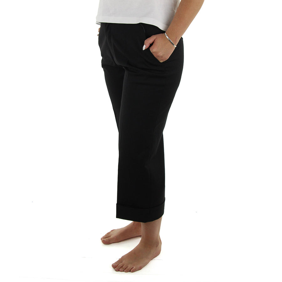 Ivory Fold Women's Pants/Black