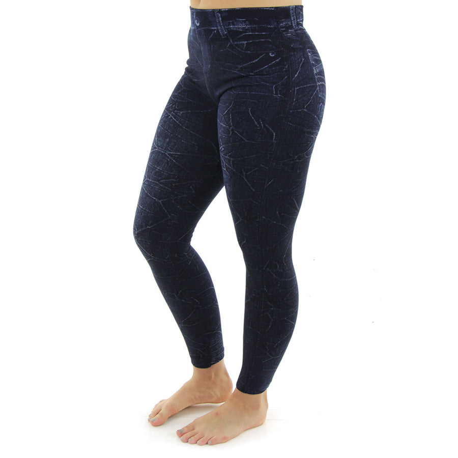 French Terry Body Slimming Women's Tights/Navy