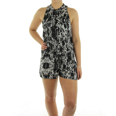 Lake Women's Playsuit/Black/White